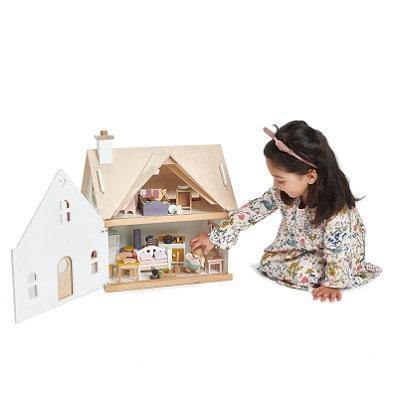 Odoria 1//12 Miniatura Annata Tesoro Petto Marrone in Legno Casa delle Bambole